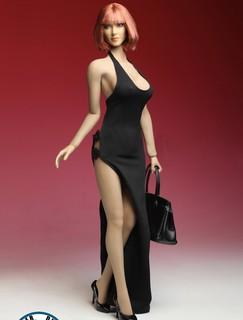 『玩模坊』 1/6 12吋 (4款色)SUPER DUCK C016 1/6 女裝禮服+手提包套裝  模型