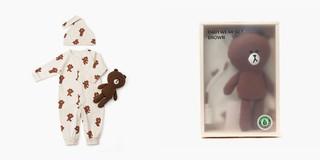 【嬰兒連身衣】 現貨 LINE FRIENDS 熊大 嬰幼兒包屁衣 嬰兒服 禮盒組 有機棉 熊大 娃娃 童裝 幼兒新生兒