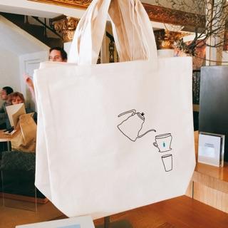 美國連線代購 blue bottle 藍瓶咖啡 帆布袋 手提袋 購物袋