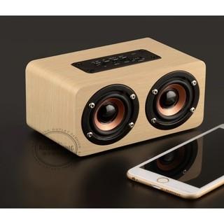 爆款 高質感 立體音 木質雙喇叭 無線藍芽音箱 藍芽喇叭 插卡撥放 免提通話 超長撥放 木質感音箱