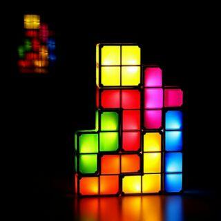 立體拼圖燈 俄羅斯方塊燈 LED七彩燈 桌面客廳茶几燈 新奇特燈 創意禮品