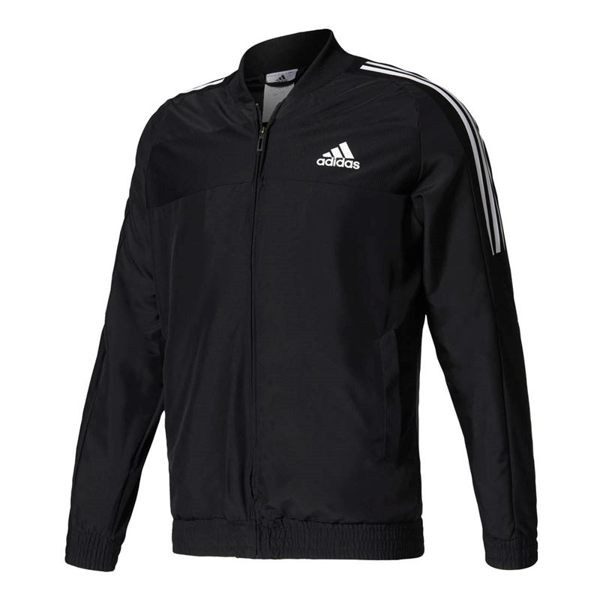 Adidas Club Jacket 男裝 立領外套 Climacool 透氣 涼爽 黑 白 【運動世界】 B45845