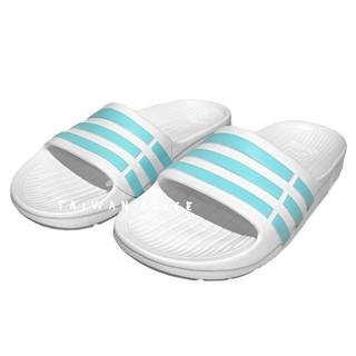 Adidas愛迪達Slide湖水綠白蒂芬尼綠夏日女休閒涼拖鞋女孩們的最愛防水拖鞋日韓穿搭白綠清新配色BA7701大童女鞋