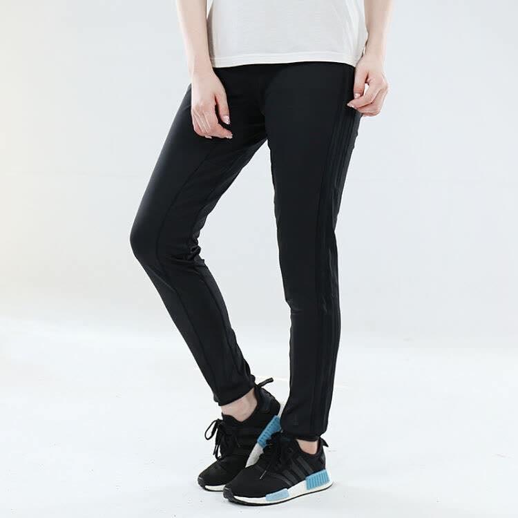 adidas D2m cuff Pt 3s 女款 全黑 三線 縮口 長褲 Bk2624