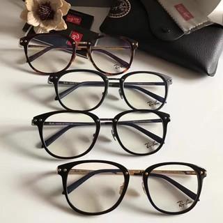 V-Ray-Ban雷朋經典方框近視眼鏡可配近視平光眼鏡雙側帶釘時