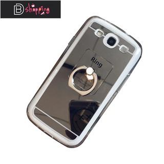 三星s3手機殼硅膠 i9300保護套防摔鏡面電鍍指環i9305外殼男女