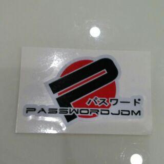 Password jdm 反光貼紙 汽車 改裝 jdm貼紙 海拉風 hellaflush k8 k6 fit