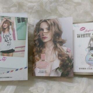 3款全新日本流行針管香水 愛情魔法石 情定巴黎玫瑰 愛情靈藥白色戀人