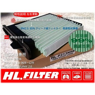 【HL】NISSAN TIIDA ~12年 LIVINA 原廠型 超細纖 冷氣濾網 粉塵濾網 室內濾網 非 活性碳 3M