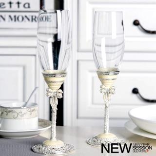 琺瑯彩香檳杯高腳杯高檔無鉛水晶刻字紅酒杯情侶對杯結婚禮物套裝