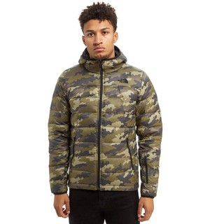 The north face 迷彩羽絨外套
