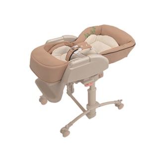 (二手)Aprica 高低調節搖擺餐搖床椅 625 4WF-牛糖米(手動)豪華版 餐搖椅