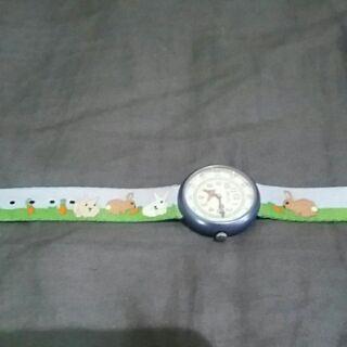 全新日本購回flik-flak小朋友防水兔兔錶