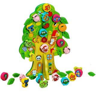 木製串珠 樹木造型串珠玩具 尺寸28.5*19.5CM