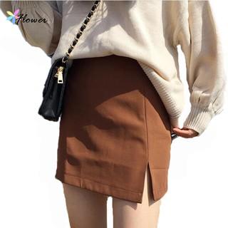 窄裙女生衣著 簡約短裙女裝半身裙港風複古chic 高腰百搭開叉A