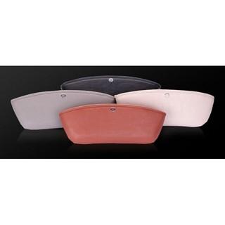 BMW 汽車真皮置物盒 儲物盒 收納箱 車載車用真皮座椅縫隙夾縫袋 米色