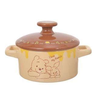 日本 Disney Store 迪士尼 小熊維尼與小豬 保溫 料理砂鍋 陶瓷鍋 鍋子~現貨