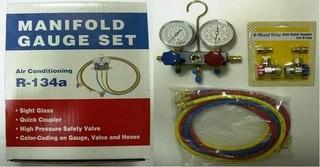 ☆達特汽車工具☆ 冷煤高低壓錶組 (R-134a)/冷媒錶/ 美製品/冷媒接頭