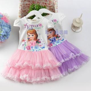 蘇菲亞公主裙迪士尼洋裝G241  蘇菲亞公主裙女童蓬蓬紗裙兒童連衣裙女孩裙子