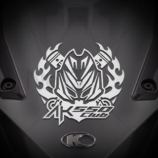 光陽 KYMCO AK550 Club 火焰車頭貼紙