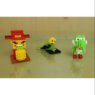 樂高 財神爺+鸚鵡+小恐龍 公仔