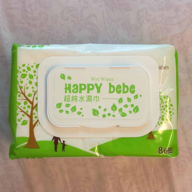 加購區 濕紙巾 Happy Bebe 86抽 單包售 推薦試用