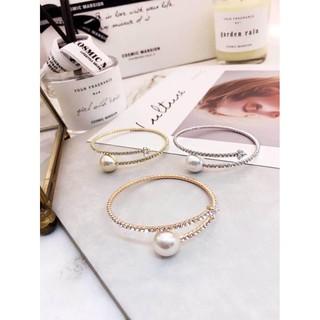《韓國飾品 珍珠鋯石手環》