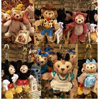 【香港空運現貨】迪士尼 達菲 小飛象 熊抱哥 胡迪 米奇 愛麗絲 冰雪奇緣 達菲鑰匙圈吊飾娃娃