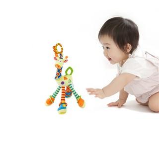 嬰兒嬰兒發展軟 Handbells 長頸鹿顫動處理玩具床 Bell