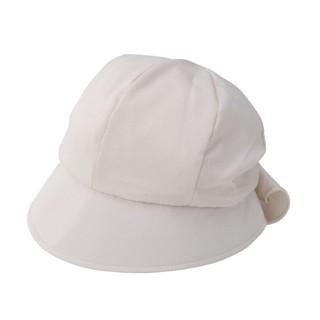 日本SHF 女優抗UV後綁帶蝴蝶結帽-米白色