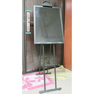 二手 台灣粉品 成功 廣告 伸縮 告示板架 1109 + 雙面木框軟木彩繪板 45X60cm 黑板