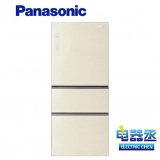 【電器丞】 Panasonic 國際 610公升三門玻璃變頻冰箱 NR-C618NHG-N 翡翠金