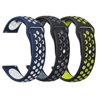 米動青春版手錶 gear sport 替換手環 反扣式 雙色運動風錶帶矽膠雙色 錶帶 米動手錶 20mm nike