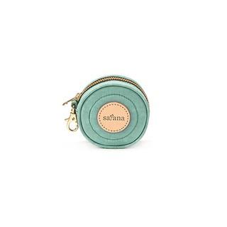 2018新款 全新品 satana - 呼嚕嚕萬用包 零錢包 小錢包 車輪餅 礦石藍 Tiffany 拉鍊包