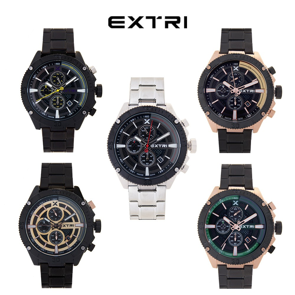 EXTRI 百搭帥氣三眼手錶(6028)
