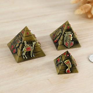 滿449免運生活家居飾品三件套埃及胡夫金字塔建筑模型擺件 復古家居金屬裝飾品擺設特價
