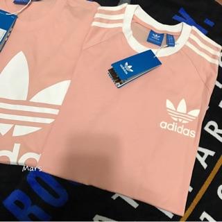 *Mars*全新真品 ADIDAS CALIFORNIA BQ5369 軍綠色 粉紅 印花 logo 短袖 上衣