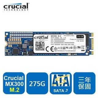 美光 Micron Crucial MX300 275GB ( M.2 Type 2280SS )