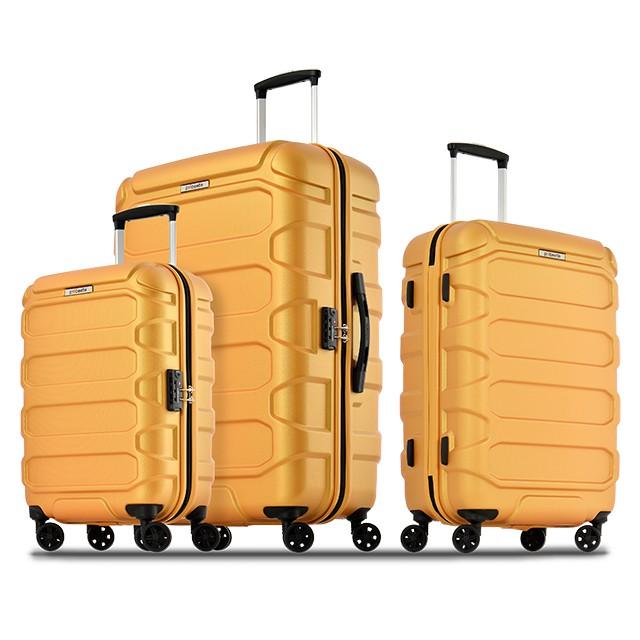 Probeetle 壓紋PC行李箱 20吋/24吋<新金橘>KH52