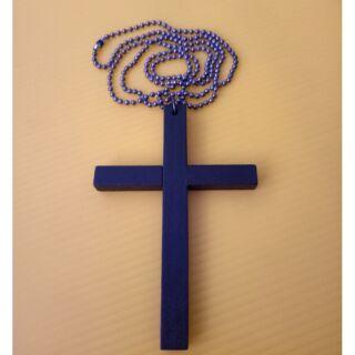 木頭十字架項鏈