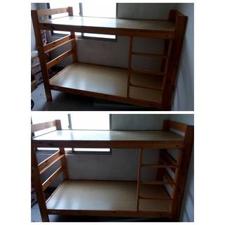 【搬家出清】松木雙層床架/實木單人上下舖/兒童床/幼兒床/成長床/幼童床/IKEA