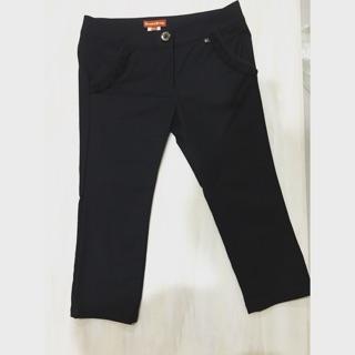 Knightsbridge 黑色蕾絲甜美七分褲 Knightbridge