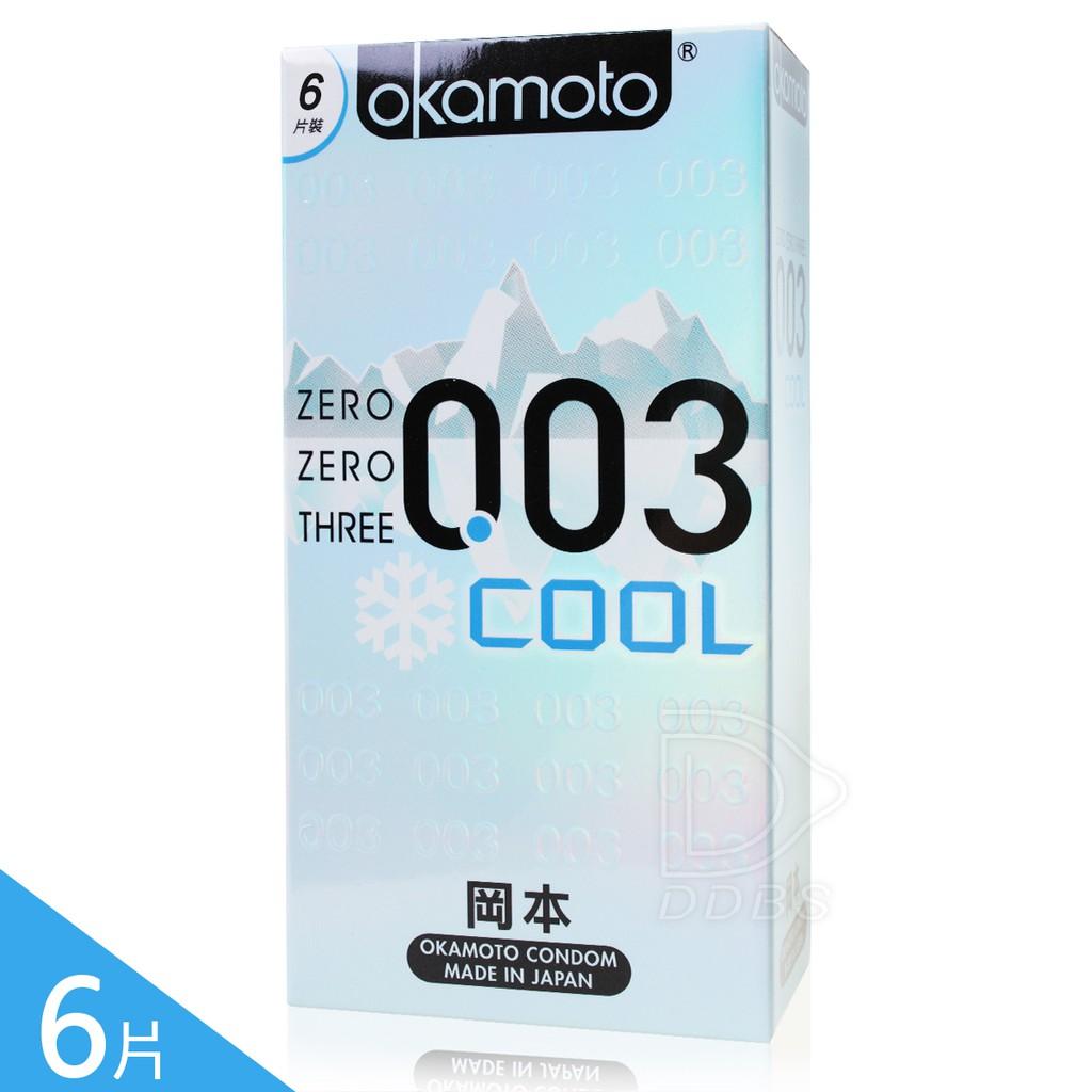 岡本OK COOL 冰炫極薄003 保險套 6片裝衛生套