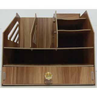 辦公室用品桌面收納盒木質大號書架創意文具置物架文件收納架