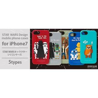 買買3C- IPHONE 7日本正版 迪士尼 星際大戰 黑武士 R2D2 矽膠保護軟殼 手機殼 4.7吋
