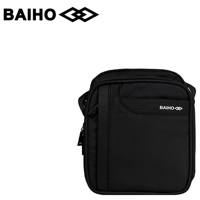 BAIHO 台灣製造 直式 多功能 側背包/斜背包 BHO258 黑色