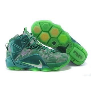 原廠NIKE LEBRON XI EP 詹姆斯12代高筒籃球鞋反光青色塗鴉運動鞋慢跑鞋休閒鞋
