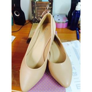 韓國氣質蟒蛇皮紋拼接尖頭包鞋