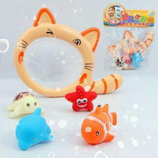 寶寶洗澡玩具/撈魚戲水