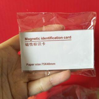 磁性姓名牌  磁鐵名牌 磁鐵胸牌 磁性標示卡 姓名牌 (替換紙張)